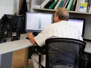 Tooling Employee at Desk